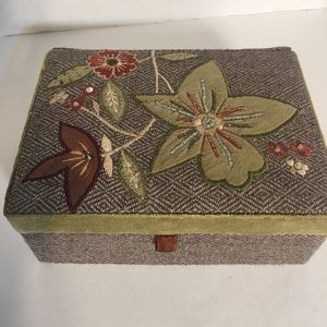 Beautiful Upholstered Fabric Jewelry Box!